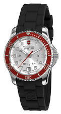 Swiss Army Maverick GS Steel Womens Strap Watch Silver Dial Calendar 241484