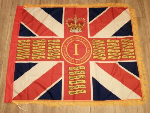 The Princess of Wales/'s Royal Regiment 1st Bn Queens colours flag