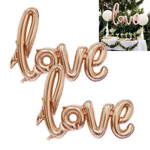 PT-Cn-Eg-Oro-Rosa-Amore-Cuore-Palloncino-Rivestito-Fidanzamento