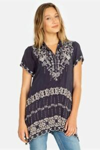 Johnny-Was-Fletcher-Embroidered-Tunic-Top-Boho-Chic-C26819-NEW