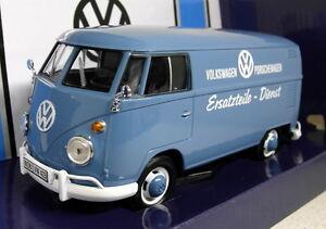 Motormax-models-1-24-Scale-79556-Volkswagen-T1-Type-2-Panel-van-Porsche-Parts-Bl