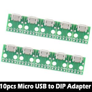 10pc-Female-Micro-USB-to-DIP-Adapter-Converter-2-54mm-PCB-Breakout-Board-TE1028