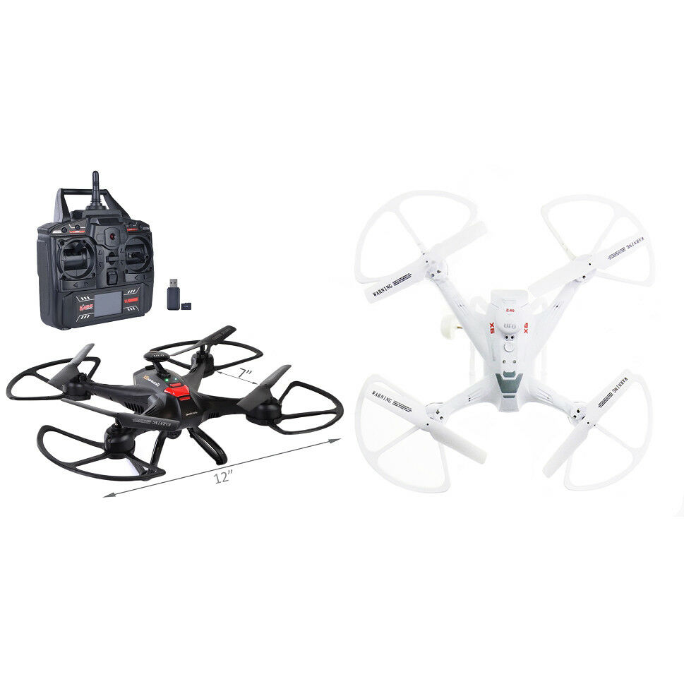 7  Quadcopter Drone 6 Axis Gyro w HD Camera LED Lights & Flip 4-Ch 2.4GHz
