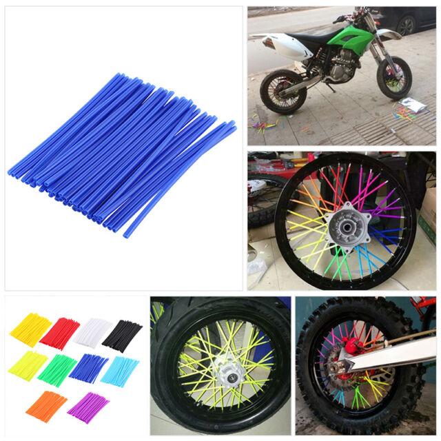 72X Motorcycle Motocross Dirt Bike Wheel Spoke Wraps Skins Coat Trim Cover Pipe