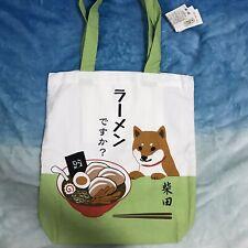 Shiba inu dog Shibatasan mini tote bag Mt.Fuji JAPAN cotton NEW