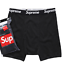 1-Boxer-Brief-seulement-Supreme-Hanes-Boxer-Brief-noir-et-blanc-S-M-L-XL miniature 1