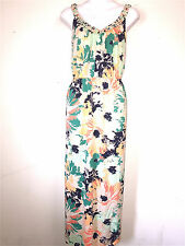 SONOMA LIFE STYLE WOMENS LADIES GREEN BEIGE & ORANGE MAXI STYLE KNIT DRESS ~ 2X