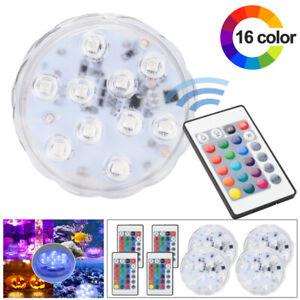 4X-RGB-Unterwasser-Licht-Unterwasser-LED-Lampe-Pool-LED-Deko-Beleuchtung-IP68