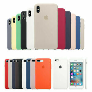 Original Silicona Genuina Case Funda Para iPhone X XR XS 11 Pro