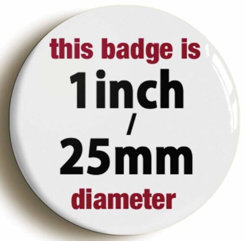 GONG BADGE BUTTON PIN Size is 1inch//25mm diameter