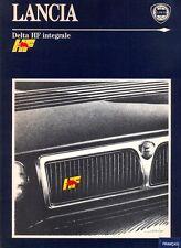 Lancia Delta HF integrale Evo original PRESS KIT 1991 French text