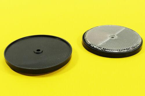 WOW 2x Katzenaugen Set  silber Reflektoren Rückstrahler rund 80 mm