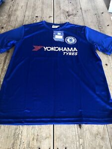 """huge discount 10c08 26f70 Details about NEW!! CHELSEA FOOTBALL CLUB Blue """"Club Chelsea"""" Home T SHIRT,  Large"""
