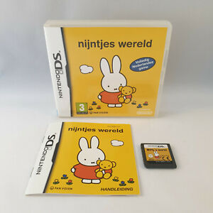 Nintendo DS NDS - Nijntje's Wereld / Miffy's World VERY RARE - COMPLETE IN BOX
