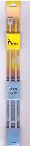Item No 3.75mm Pony Knitting Needles 25cm 31608