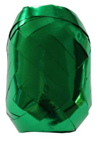 Kräuselband Geschenkband Ei 10 m 7 mm metallic grün 2 Stück 0039