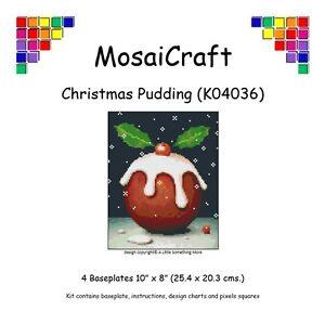 MosaiCraft-Pixel-Craft-Mosaic-Art-Kit-039-Christmas-Pudding-039-Pixelhobby