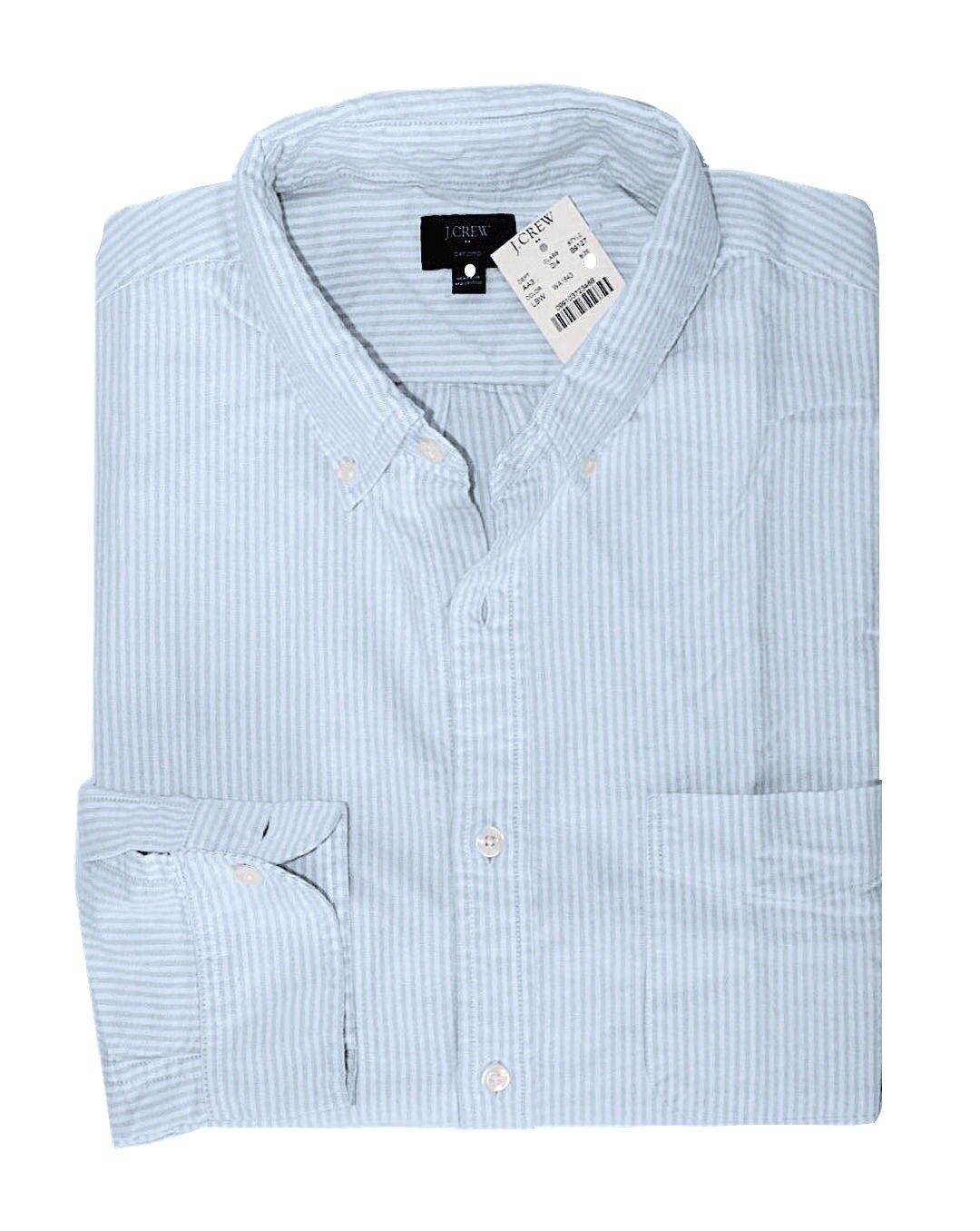 J Crew Factory - Men's XL - NWT - Slim Fit - bluee Striped Oxford Cotton Shirt
