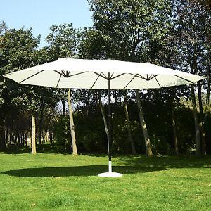 Outsunny 4 6m patio double designed sun umbrella garden parasol patio canopy - Parasol double pente ...