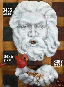 Ceramic-Bisque-Bird-Feeder-Old-Man-Winter-CPI-Mold-3486-U-Paint-Ready-To-Paint