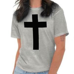 Classic-Cross-Black-Jesus-Christ-Religious-Christian-God-T-Shirt