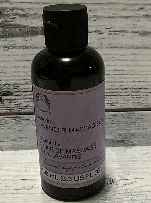 New The Body Shop Aromatherapy Relaxing Lavender Massage Oil Rare Find Free Ship Ebay
