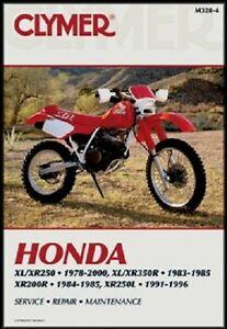Details about CLYMER MANUAL HONDA XR200R 1984-85, XR250 1979-80, XR250R on
