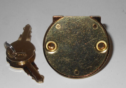 Lot of 10   Disc Tumbler Drawer Lock Bright Brass Keyed Alike