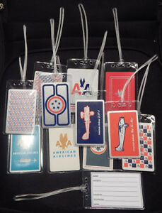 Luggage-tag-American-Airlines-w-playing-card-choose-from-multiple-designs