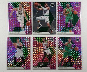 TATUM-HAYWARD-BROWN-Boston-Celtics-2019-20-Mosaic-Prizm-Team-Card-Lot