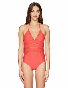 7f46e39a49e3b Ella Moss Women's Crafty One Piece Swimsuit, Passion Red, Medium ...