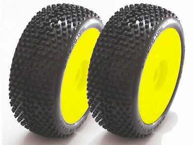 """Gomme Tire 1//8 BUGGY SP RACING /"""" VELOCIRAPTOR /"""" version SPORT incollate SP00030"""