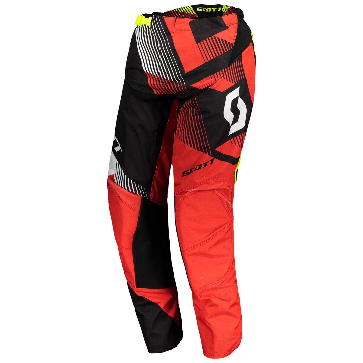 Scott 350  Dirt MX motocross dh bicicleta pantalones rojo negro 2018