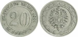 Empire 20 Pfennig 1888 D Very Schön-vorzüglich