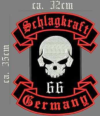 Forza Germany Teschio 66 Ricamate-