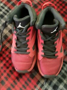 Details about Youth Jordan Shoes size 2y av1243-002 red black