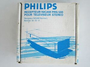 RECEPTEUR-NICAM-STEREO-PHILIPS-PRN500-Vintage-Collection-NEUF