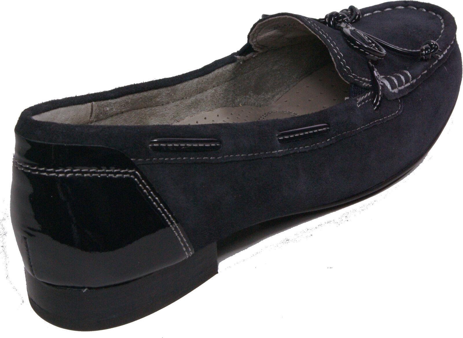 GABOR Schuhe Pumps Mokassin blau Weite echt Leder Nubuk Lack Weite blau G NEU a8dabc