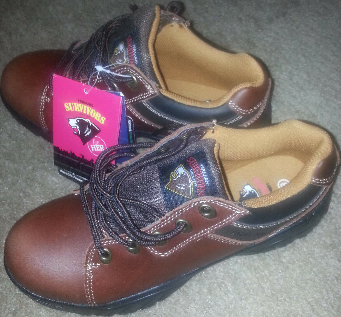 NEW HERMAN SURVIVORS WINTER/FALL LEATHER BOOTS 8 SZ 8 BOOTS US 39 1/2 EUR WOMENS MENS 6d9f76