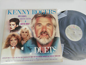 "Kenny Rogers Duets Sheena Easton LP Vinyl vinyl 12 "" 1984 USA Press G VG+"