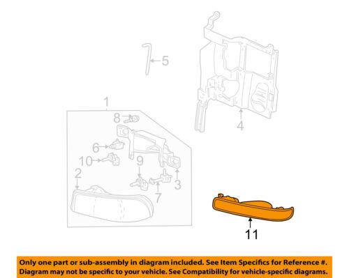 GM OEM Side Marker Light-Front-Park//turn//side Left 15199554