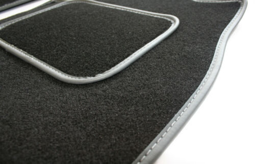 Grey Leather Trim Perfect Fit Black Carpet Car Mats for Nissan NV200 09/>