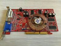 MSI ATI Radeon 9550 128 MB AGP 4x 8x Desktop Video Graphics Card VGA Adapter DVI