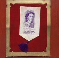 H.M. QUEEN ELIZABETH II 1953 CORONATION CARD LULLINGSTONE SILK