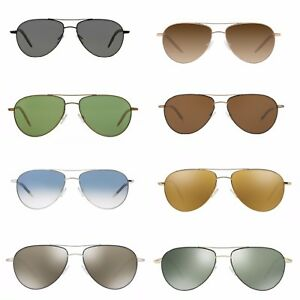ace43172076 Image is loading OLIVER-PEOPLES-SUNGLASSES-Benedict-Aviator-Pilot-Rose-Gold-