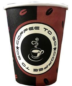1000 Stück Coffee To Go Becher 200 ml Pappbecher Kaffeebecher Hartpapier 0,2l