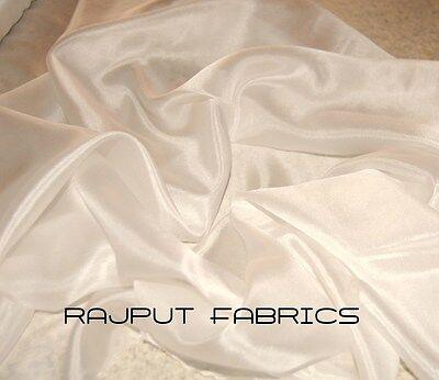"54""Wide 100% Silk Habotai Fabric China Silk Habutai off White Ivory BY THE YARD"