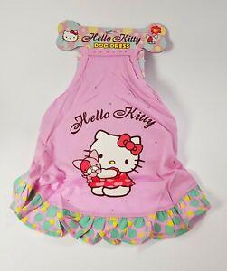 Hello Kitty Animal de Compagnie Chien Robe Pour Moyenne avec Strass Original
