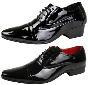 Image Is Loading Mens Patent Lace Up Loafers Smart Formal Oxford