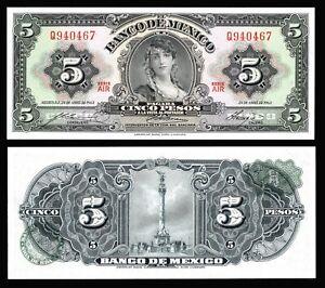 Mexico-5-Pesos-Gypsy-24-Apr-1963-Series-AIR-P-60j-UNC-Q940467